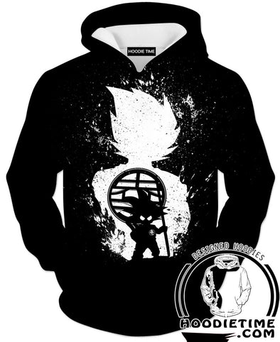 Dragon Ball Z Hoodies - Evolution of Goku Hoodie - DBZ Clothes-Hoodie Time - Anime and Gaming Hoodies