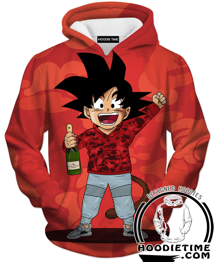 Dragon ball z kid goku bape hoodie