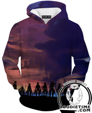 Attack on Titan All Character Hoodie - Anime Clothing Hoodies-Hoodie Time - Anime and Gaming Hoodies