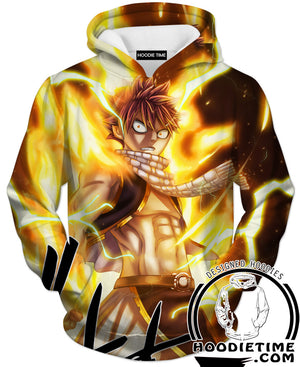 Fire Natsu Hoodie - Fairy Tail Hoodies - Double Printed Clothing-Hoodie Time - Anime and Gaming Hoodies
