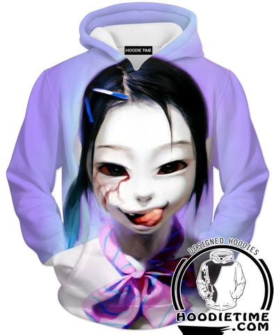 Japanese CReepy Horror Hoodie Clothing Clothes