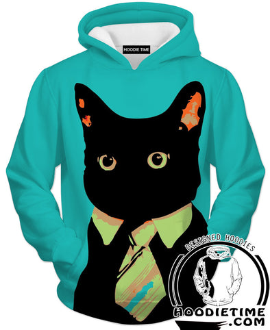 Business Cat Hoodie Funny Clothing