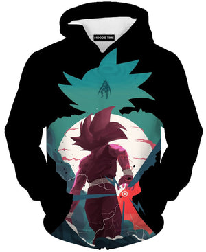 Gohan Vs Cell Hoodie - Dragon Ball Z Hoodies and Clothing-Hoodie Time - Anime and Gaming Hoodies