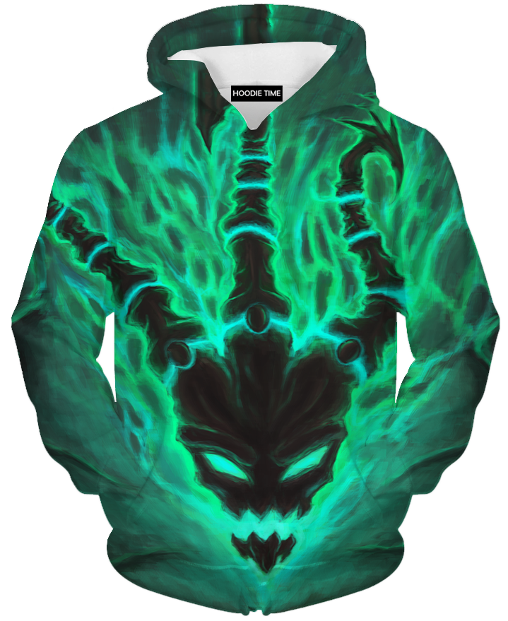 League Of Legends Thresh Face Hoodie - 3D Pullover Clothing - LoL Hoodies-Hoodie Time - Anime and Gaming Hoodies