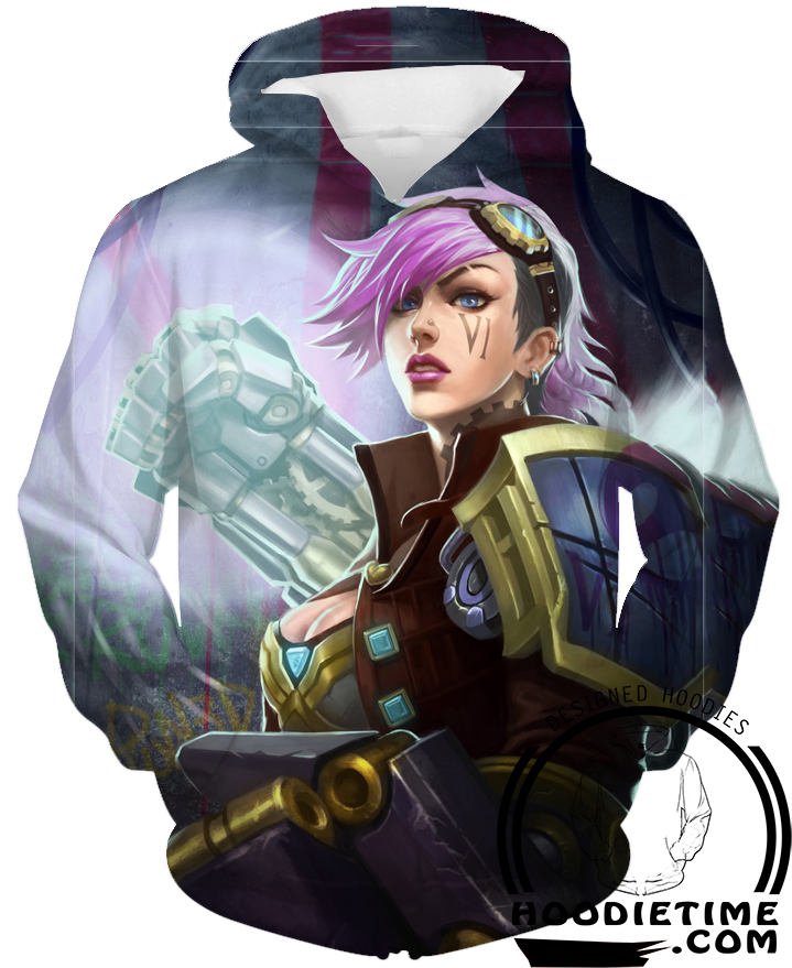 league of legends vi hoodie clothing