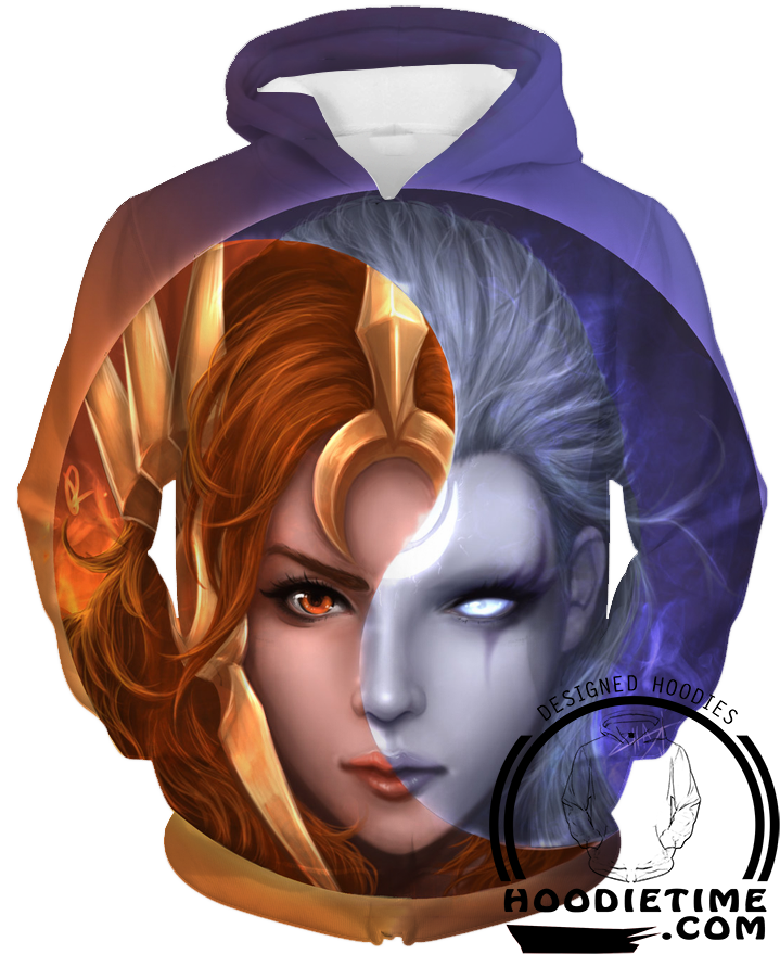 League Of Legends Diana and Leona Hoodie - 3D Pullover Clothing - LoL Hoodies-Hoodie Time - Anime and Gaming Hoodies