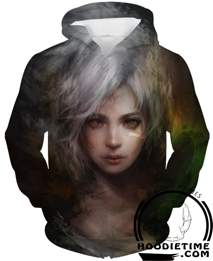 Riven head hoodie league of legends