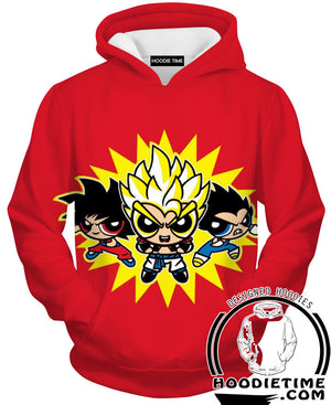 Power Puff Dragon Ball Z Hoodie Hoodies Funny