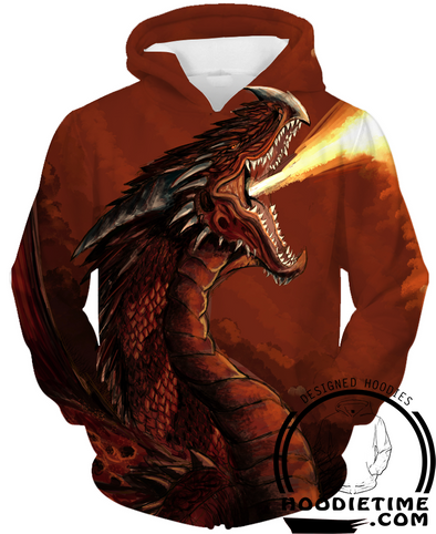 Red fire dragon hoodie pullover 3d dungeons and dragons hoodies