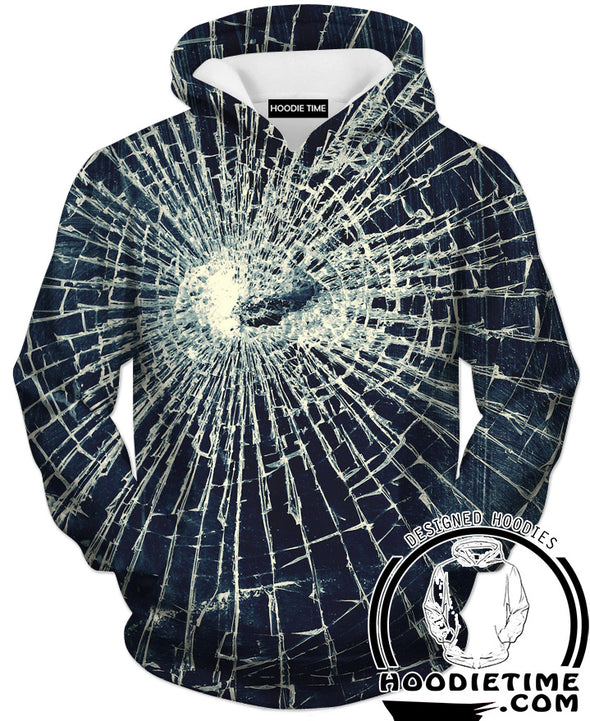 Broken glass hoodie clothing clothes