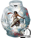 Attack on Titan Hoodie - Mikasa Ackerman Sexy Hoodie - Anime Clothes-Hoodie Time - Anime and Gaming Hoodies