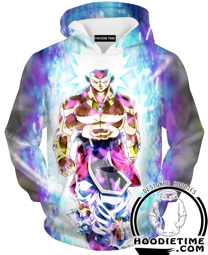 Super Ultra Instinct Broly Hoodie - Dragon Ball Super Clothing-Hoodie Time - Anime and Gaming Hoodies