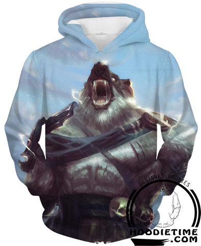 League Of Legends Volibear Hoodie - 3D Pullover Clothing - LoL Hoodies-Hoodie Time - Anime and Gaming Hoodies