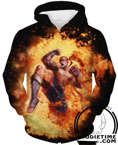 Lee Sin Fire hoodie league of legends clothes clothing lol