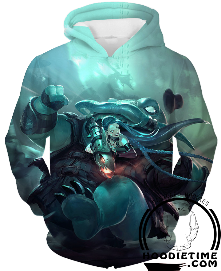 Rocket Jinx Hoodie League of legends hoodies clothing