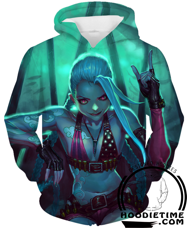 League of Legends Jinx Hoodie clothing clothes