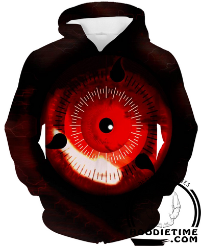 Naruto - Mangekyo Sharingan 3D Hoodie - Pullover Hoodie 3D-Hoodie Time - Anime and Gaming Hoodies