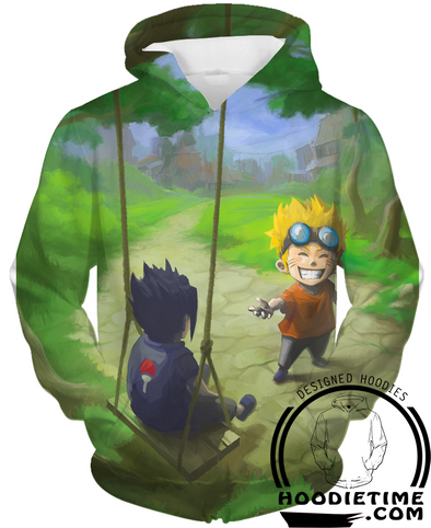 Naruto - Sasuke and Naruto Kids Hoodie - Pullover Hoodie 3D-Hoodie Time - Anime and Gaming Hoodies