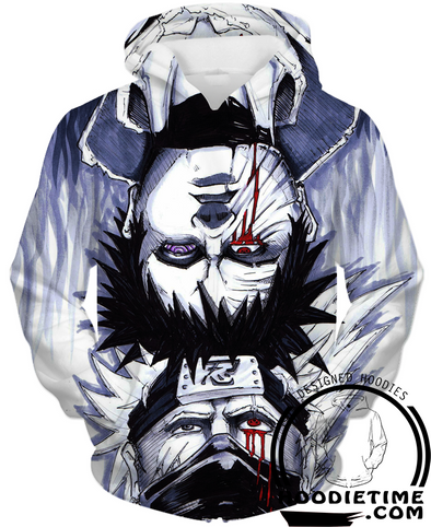 Naruto - Obito and Kakashi Hoodie - Pullover Hoodie 3D-Hoodie Time - Anime and Gaming Hoodies