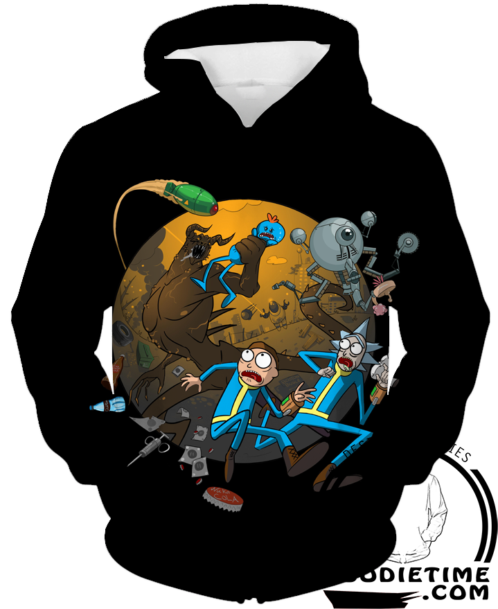 Rick and morty adventure hoodie pullover 3d clothing