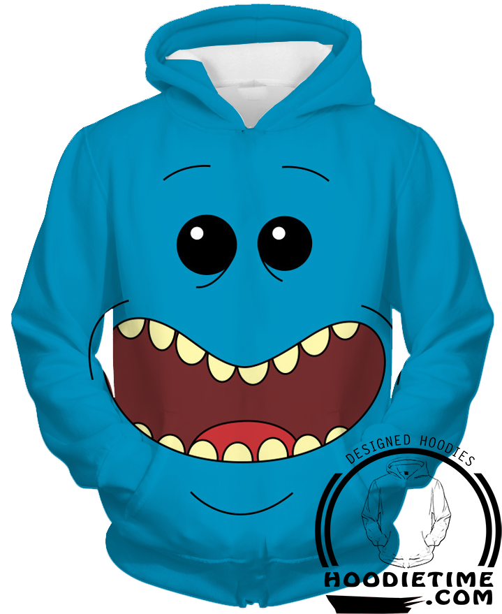 Rick and Morty Mr Meeseeks 3D Hoodie clothes
