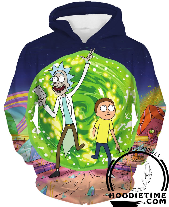Rick and morty portal hoodie clothes clothing