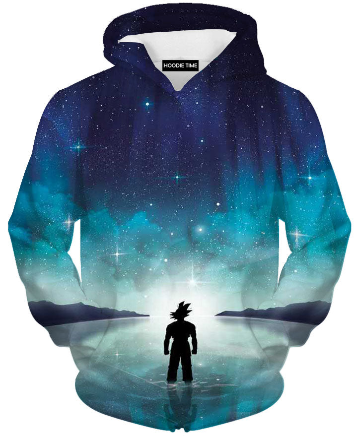 Goku Gazing Space Hoodie - Dragon Ball Z Hoodies Clothing-Hoodie Time - Anime and Gaming Hoodies