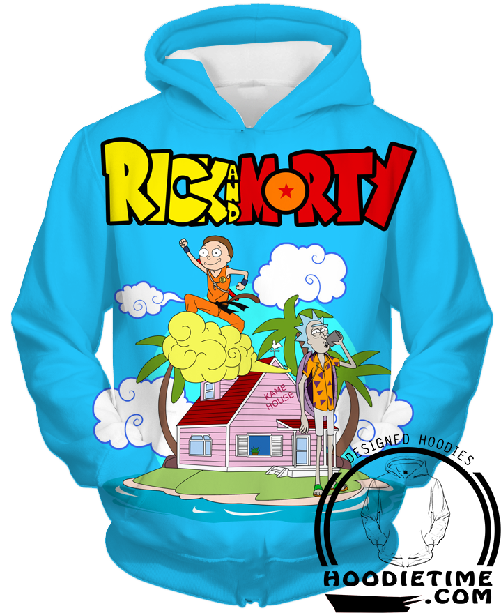 Rick and Morty Dragon ball z hoodie funny clothing