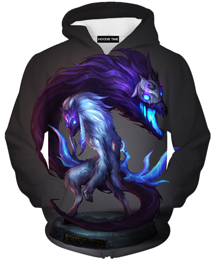 League Of Legends Grim Reaper Kindred Hoodie - 3D Pullover Clothing - LoL Hoodies-Hoodie Time - Anime and Gaming Hoodies