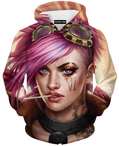 Vi hoodie league of legends clothing clothes