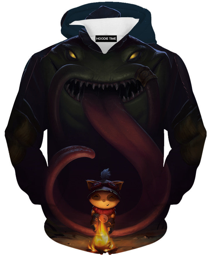 Tahm kench teemo hoodie league of legends lol