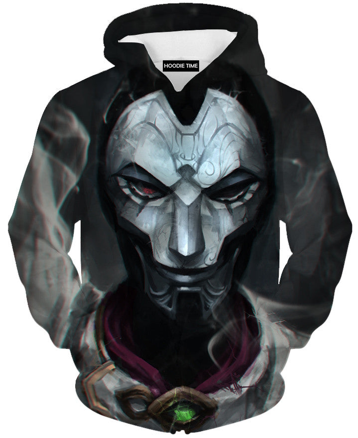 Jhin Face Hoodie League of legends hoodies clothing clothes