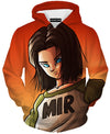 Android 17 hoodie hoodies dbz dragon ball z clothing