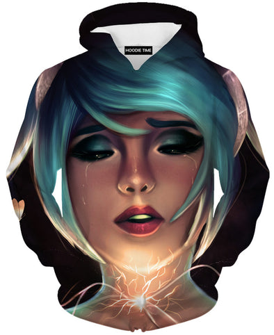 Sona face hoodie league of legends