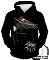 Witcher wolf medallion raven hoodie clothing clothes
