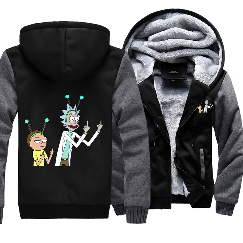 Rick and Morty Fleece hoodie peace among worlds