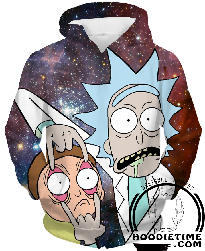 Rick and Morty Space Hoodie clothing 3d pullover