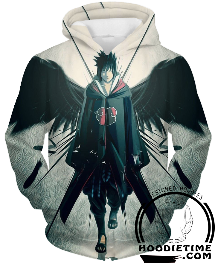 Sasuke Hoodie - Naruto hoodies clothing 3d clothes devil wings angle