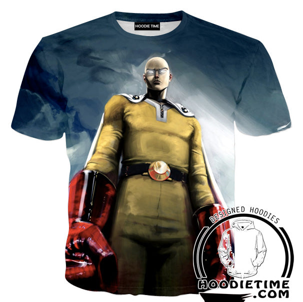 Cool Saitama Hoodie - One Punch Man Hoodies - Anime Clothing-Hoodie Time - Anime and Gaming Hoodies