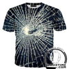 broken glass t-shirt shirts