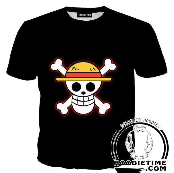 One Piece Symbol Black T Shirt One Piece Clothes Hoodie Time