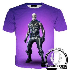 Fortnite Skull Trooper Hoodie - Fortnite Clothing-Hoodie Time - Anime and Gaming Hoodies