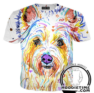 Colorful doggy t-shirt dog clothing clothes