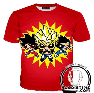 Power Puff Girls Dragon Ball Z Crossover Shirt