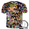 all dragon ball character t-shirt