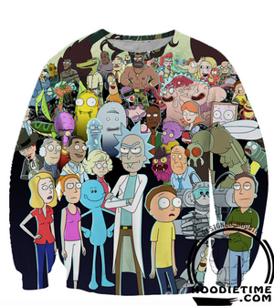 Rick and MOrty Jumper Sweater