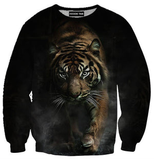 Creeping Tiger Hoodie - 3D Pullover Hoodies and Clothing-Hoodie Time - Anime and Gaming Hoodies