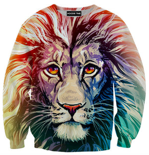 Beautiful Lion Hoodie - 3D Pullover Hoodies and Clothing-Hoodie Time - Anime and Gaming Hoodies