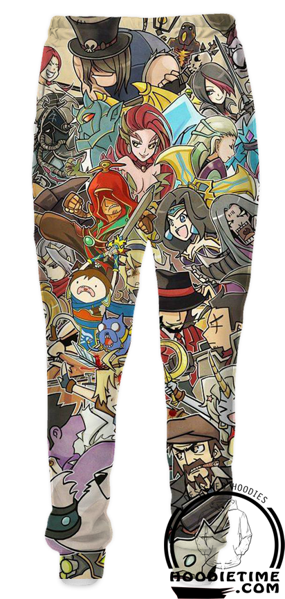 League Of Legends Multi Champion Sweatpants - 3D Clothing - LoL Pants-Hoodie Time - Anime and Gaming Hoodies