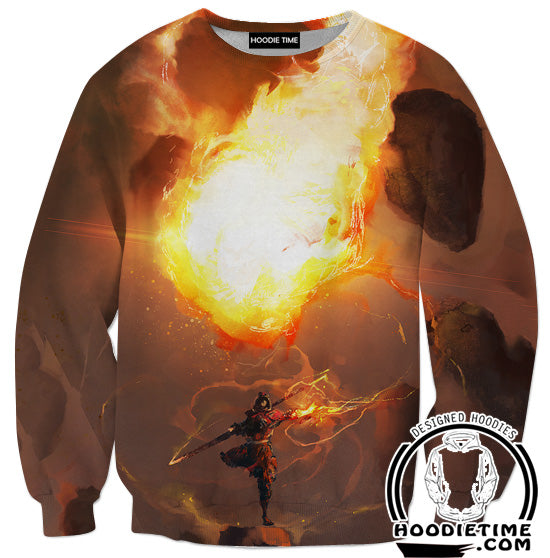 Fire Bending Sweatshirt - Fire Magic Sweaters-Hoodie Time - Anime and Gaming Hoodies